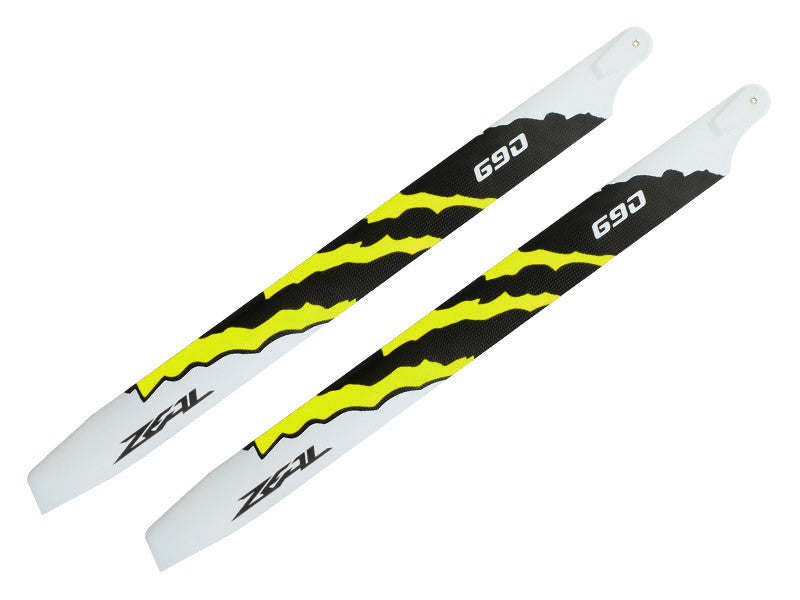 ZEAL Energy Carbon Fiber Main Blades 690mm (Yellow)