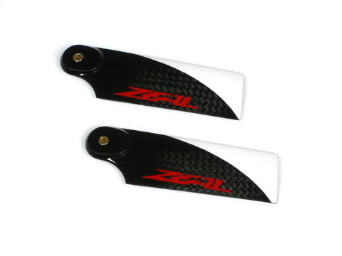 Zeal Carbon Fiber Tail Blades 72mm (Red)