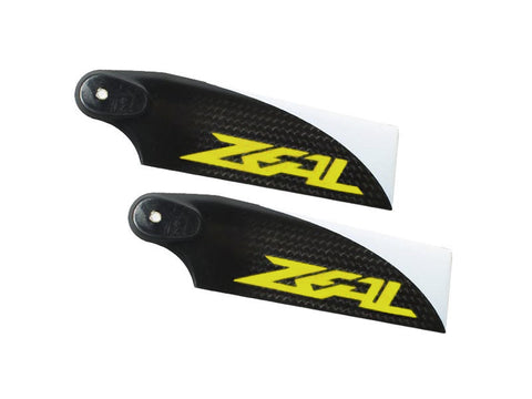 Zeal Carbon Fiber Tail Blades 105mm (Yellow)