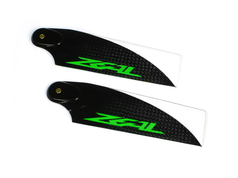 Zeal Carbon Fiber Tail Blades 115mm (Green)