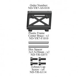 Plastic Center Frame Brace Set, R7