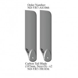 Carbon Next D Tail Blades (107mm), R7