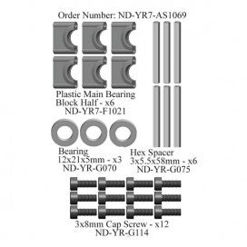 Main Shaft Bearing Block Set, R7