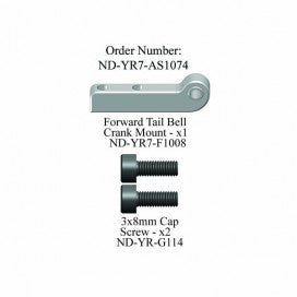 Forward Tail Bellcrank Mount Set, R7