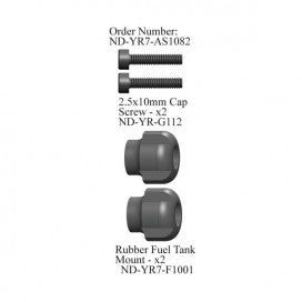 Rubber Fuel Tank Mount Set, R7
