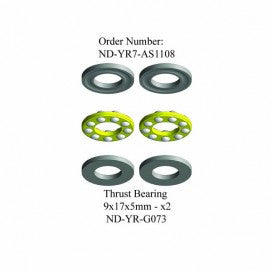 Thrust Bearing Set 9x17x5mm, R7