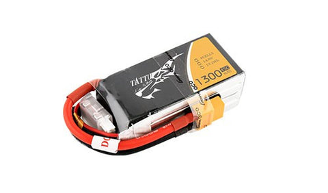 Tattu 1300mAh 14.8V 75C 4S1P Lipo Battery Pack Racing