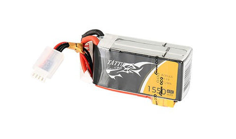 Tattu 1550mAh 14.8V 75C 4S1P Lipo Battery Pack Racing