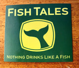 "3"" Stickers - Fish Tales, Ocean City, MD's best waterfront restaurant and bar.  Coastal Apparel relaxed for the best of beach lovers."