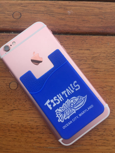 Cell Phone Wallet - Fish Tales, Ocean City, MD's best waterfront restaurant and bar.  Coastal Apparel relaxed for the best of beach lovers.