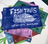 FT Small Flag - Fish Tales, Ocean City, MD's best waterfront restaurant and bar.  Coastal Apparel relaxed for the best of beach lovers.