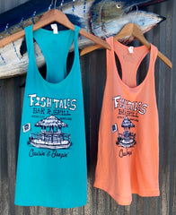 Ladies - Tiki Tanks - Fish Tales, Ocean City, MD's best waterfront restaurant and bar.  Coastal Apparel relaxed for the best of beach lovers.