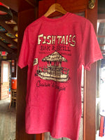 Cruisin' Tiki T-shirt - Fish Tales, Ocean City, MD's best waterfront restaurant and bar.  Coastal Apparel relaxed for the best of beach lovers.