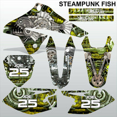 SUZUKI DRZ 125 2008-2019 STEAMPUNK FISH motocross racing decals set MX graphics