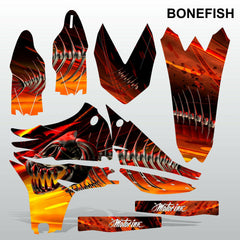 Yamaha YZF 450 2010-2013 BONEFISH motocross decals set MX graphics kit