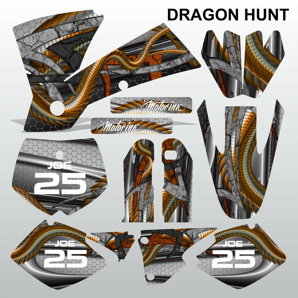 KTM SX 2001-2002 DRAGON HUNT motocross racing decals set MX graphics kit