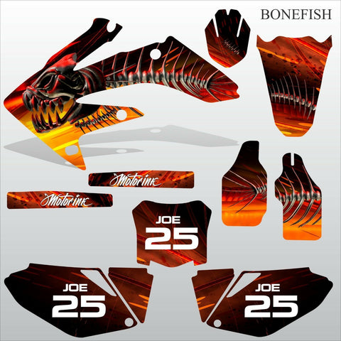 Honda CRF 250 2008-2009 BONEFISH motocross decals set MX graphics kit