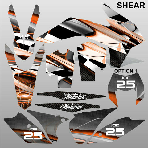 KTM EXC 2014 SHEAR motocross racing decals set MX graphics stripe kit