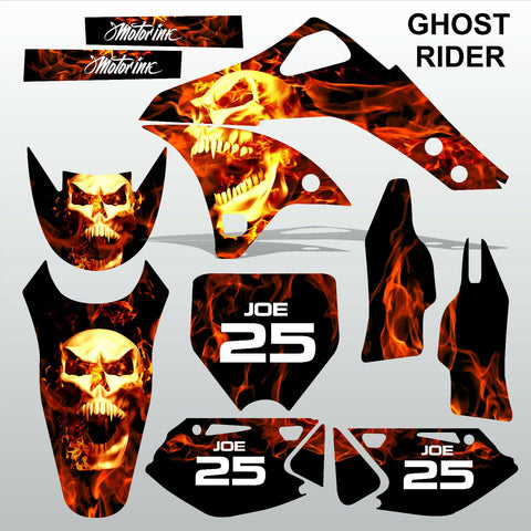 Kawasaki KXF 250 2006-2008 GHOST RIDER motocross decals set MX graphics kit