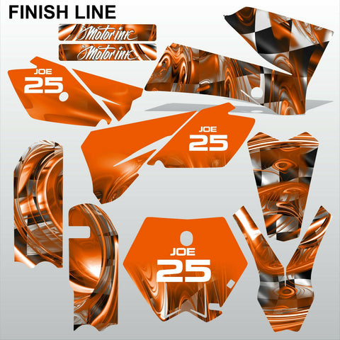 KTM SX 85-105 2006-2012 FINISH LINE motocross racing decals set MX graphics kit