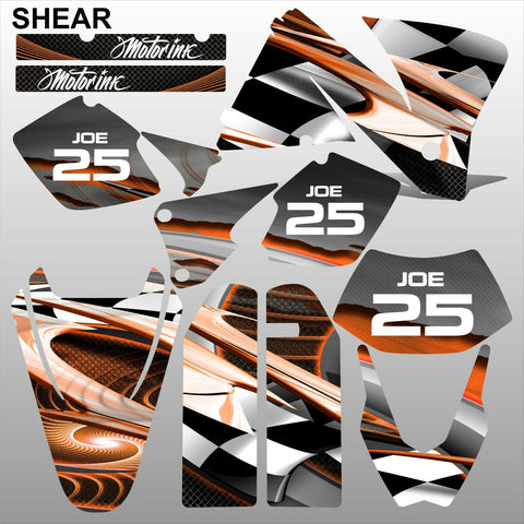 KTM EXC 2001-2002 SHEAR motocross decals stripes racing set MX graphics kit