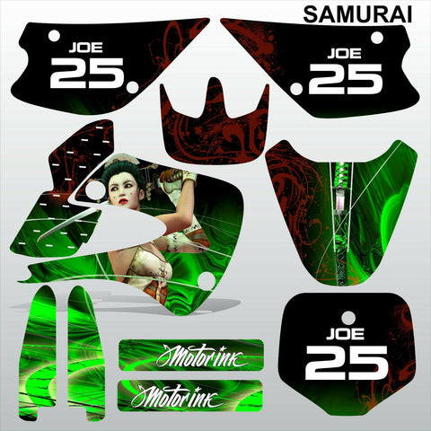 Kawasaki KX 85-100 2001-2012 SAMURAI motocross racing decals set MX graphics kit