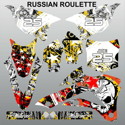 Kawasaki KX 85-100 2014-2015 RUSSIAN ROULETTE motocross decals set MX graphics