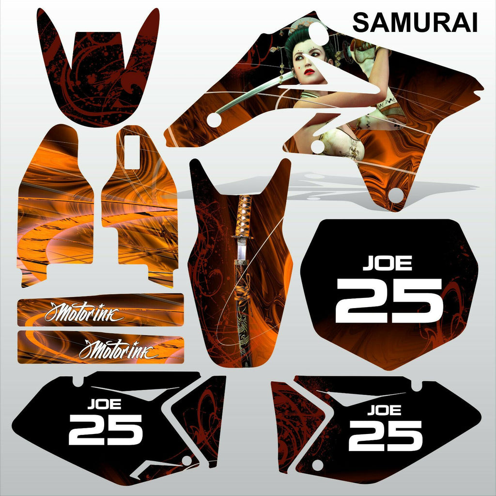 Suzuki RMZ 250 2007-2009 SAMURAI motocross racing decals set MX graphics kit