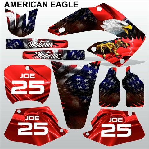 Honda CR125 CR250 2000 2001 AMERICAN EAGLE motocross racing decals MX graphics