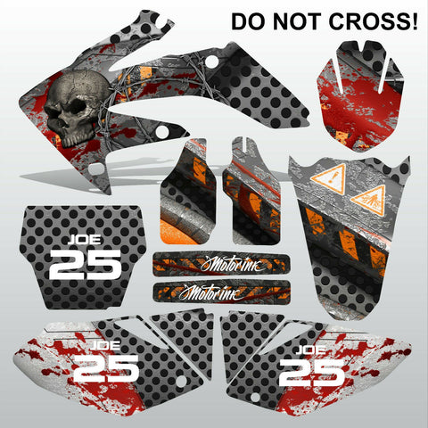 Honda CRF 250 2004-2005 DO NOT CROSS motocross decals MX graphics kit