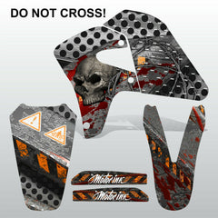 Honda XR650R 2000-2009 DO NOT CROSS! motocross decals MX graphics kit