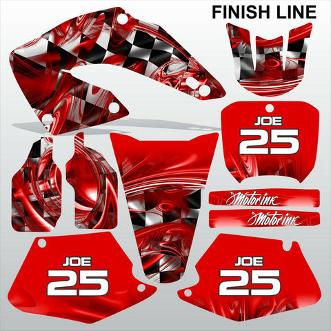 Honda CR125 CR250 2000 2001 FINISH LINE motocross decals set MX graphics kit