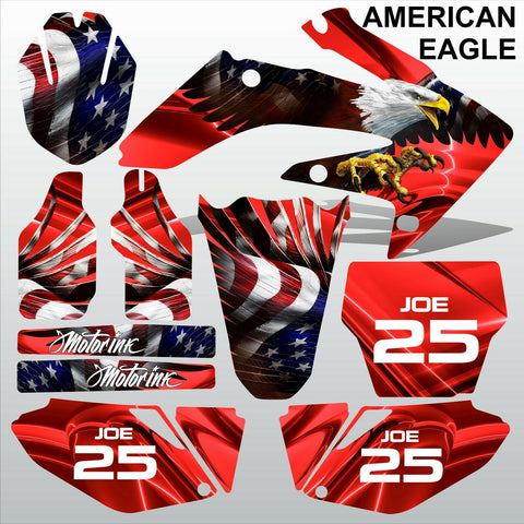 Honda CRF 250 2006-2007 AMERICAN EAGLE racing motocross decals set MX graphics