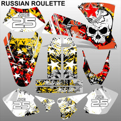 KTM EXC 2003 RUSSIAN ROULETTE motocross decals racing stripes set MX graphics