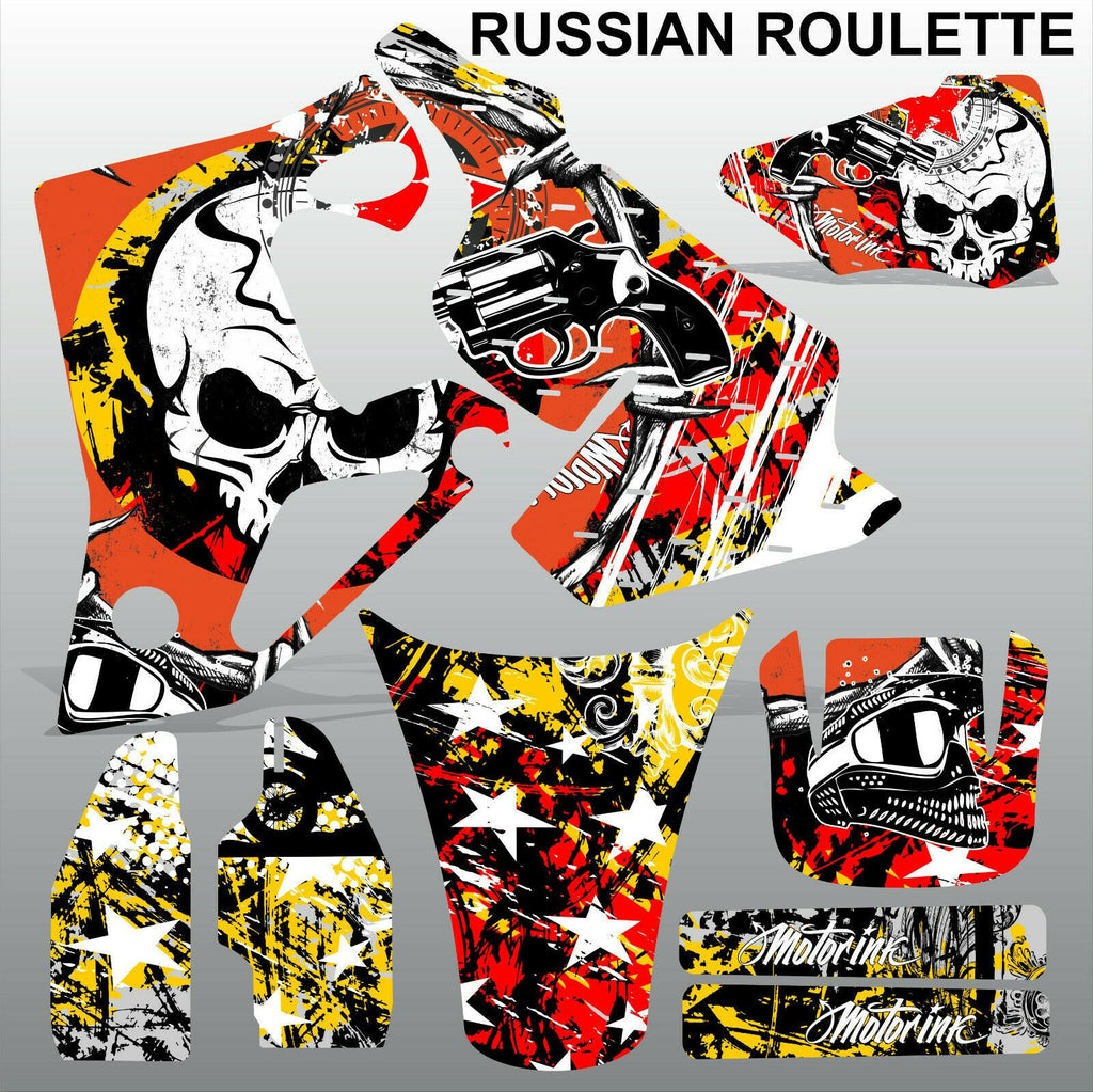 Honda CR80 1996-2002 RUSSIAN ROULLETE motocross decals set MX graphics kit