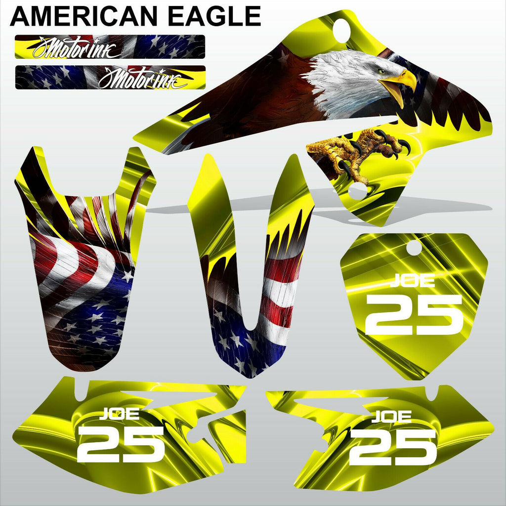 SUZUKI DRZ 125 2008-2019 AMERICAN EAGLE motocross racing decals set MX graphics