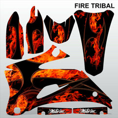 Yamaha YZF 250 450 2008 FIRE TRIBAL motocross decals set MX graphics kit
