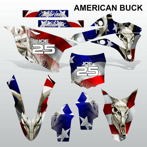 Kawasaki KX 85-100 2014-2015 AMERICAN BUCK motocross decals set MX graphics kit