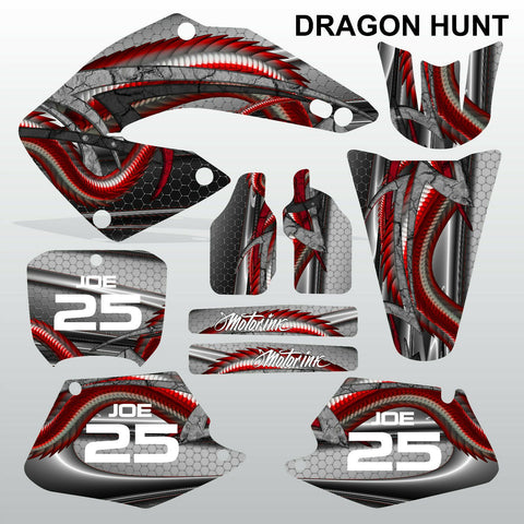 Honda CR125 CR250 00-01 DRAGON HUNT motocross decals set MX graphics kit