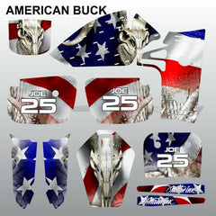 Kawasaki KX 60 1986-2005 AMERICAN BUCK motocross decals MX graphics kit stripes