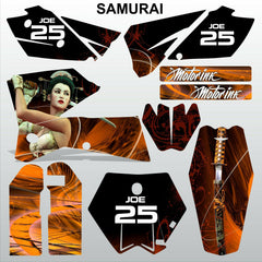 KTM SX 2005-2006 SAMURAI  motocross decals racing stripes set MX graphics kit