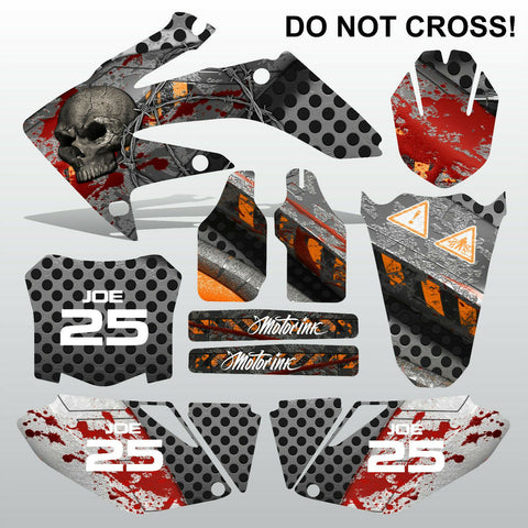 Honda CRF 250 2008-2009 DO NOT CROSS motocross decals MX graphics kit