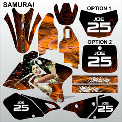 SUZUKI DRZ 400 2002-2012 SAMURAI motocross decals set MX graphics stripe kit