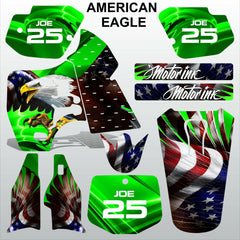 Kawasaki KX 500 1988-2004 AMERICAN EAGLE motocross racing decals MX graphics kit