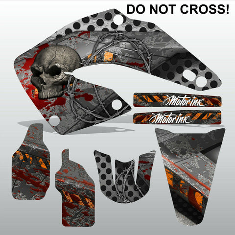 Honda CR125 CR250 00-01 DO NOT CROSS motocross decals set MX graphics kit