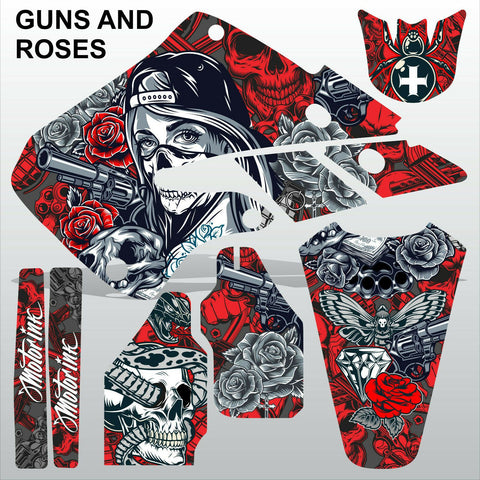 Honda CR125 250 1998 1999 GUNS AND ROSES motocross decals set MX graphics kit