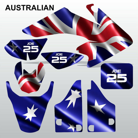 Honda CRF 50 2004-2016 AUSTRALIAN Flag motocross decals set MX graphics kit