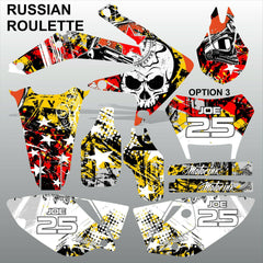 Honda CRF 450X 2005-2016 RUSSIAN ROULETTE race motocross decals set MX graphics