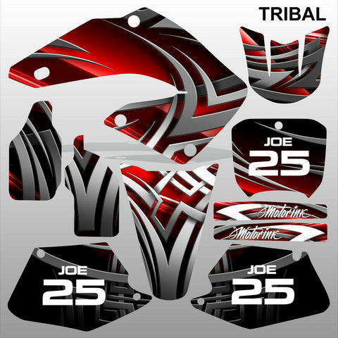Honda CR125 CR250 2000 2001 TRIBAL motocross racing decals set MX graphics kit