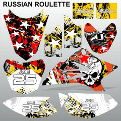 Yamaha TTR 50 2006-2015 RUSSIAN ROULETTE motocross racing decals set MX graphics